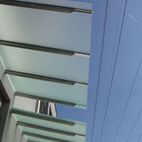 Леки алуминиеви навеси със структурен поликарбонат