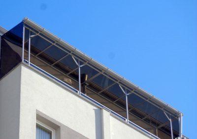 алуминиев навес с плътен поликарбонат 1