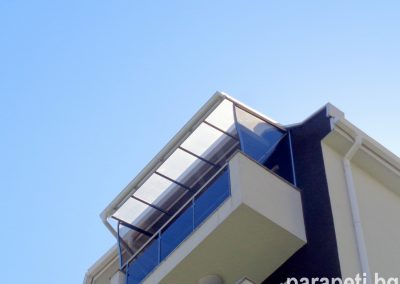 алуминиев навес с плътен поликарбонат 9