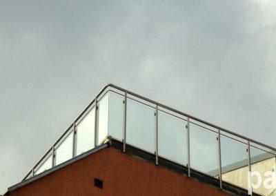парапет за тераса със стъкло 7