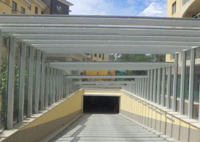 Масивни покривни алуминиеви конструкции със стъкло
